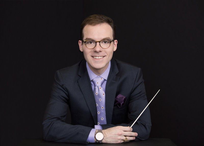Conductor Brett Judson captured in studio by Karissa Van Tassel