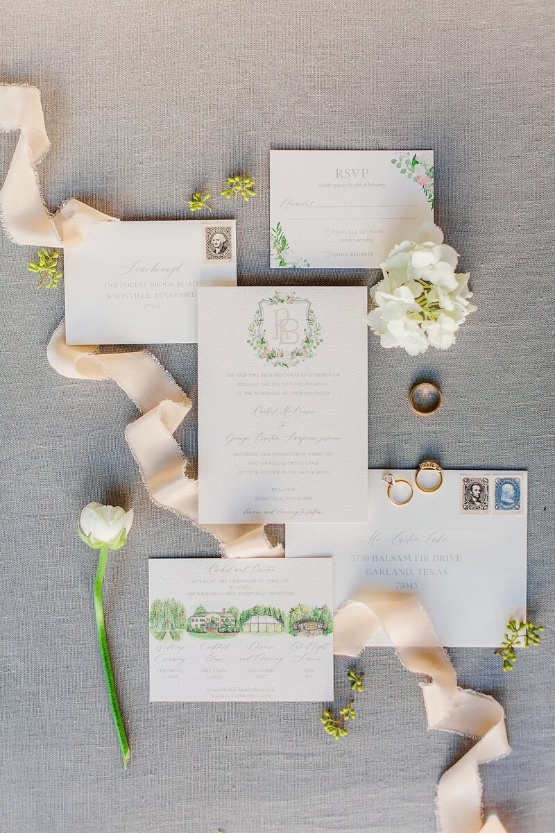gray invitation suite by Knoxville Wedding Photographer, Amanda May Photos