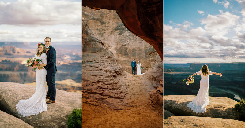 John & Amy Moab Utah Bridals at Deadhorse Point State Park and Arches National Park