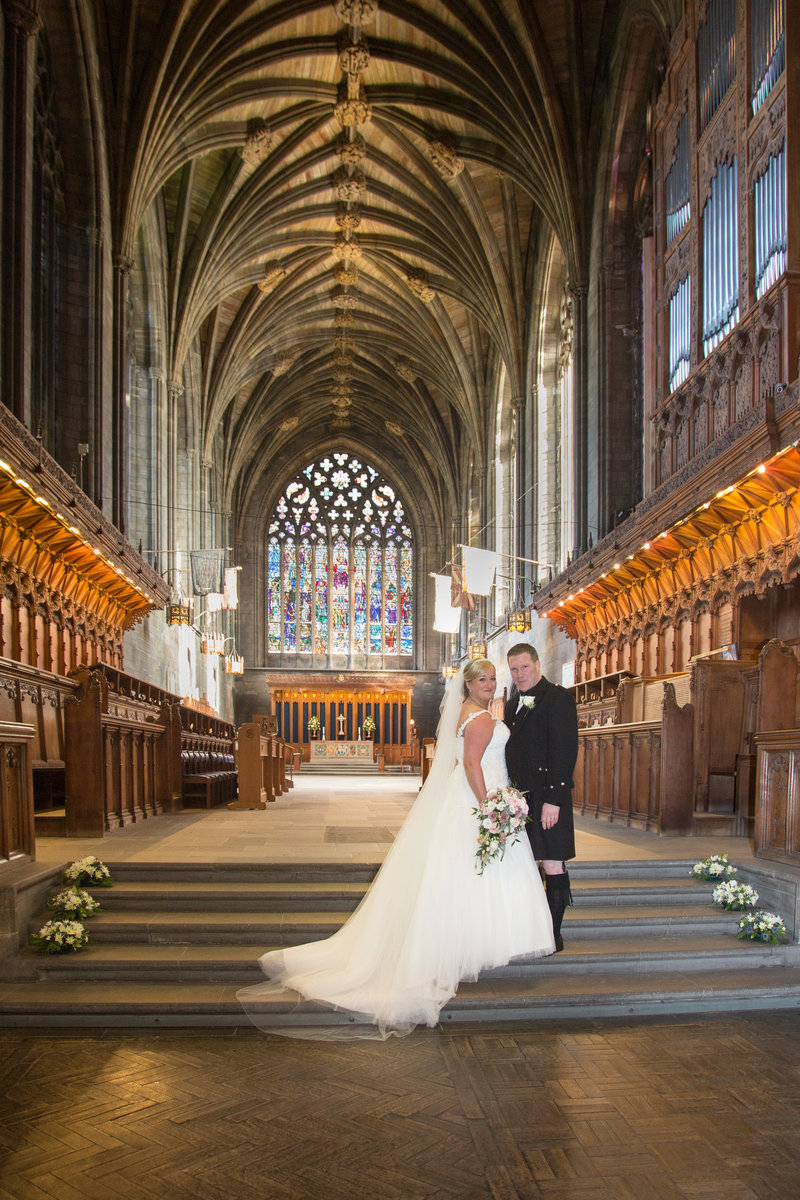 Bridal Portrait at Paisley  Abbey