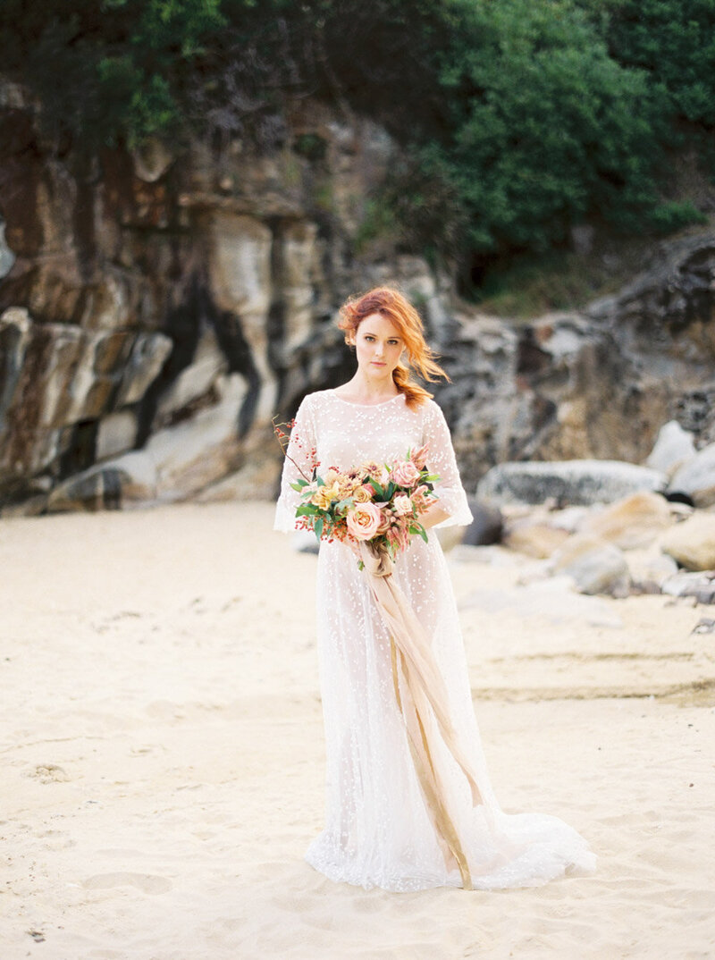 Sydney Fine Art Film Wedding Photographer Sheri McMahon - Sydney NSW Australia Beach Wedding Inspiration-00024