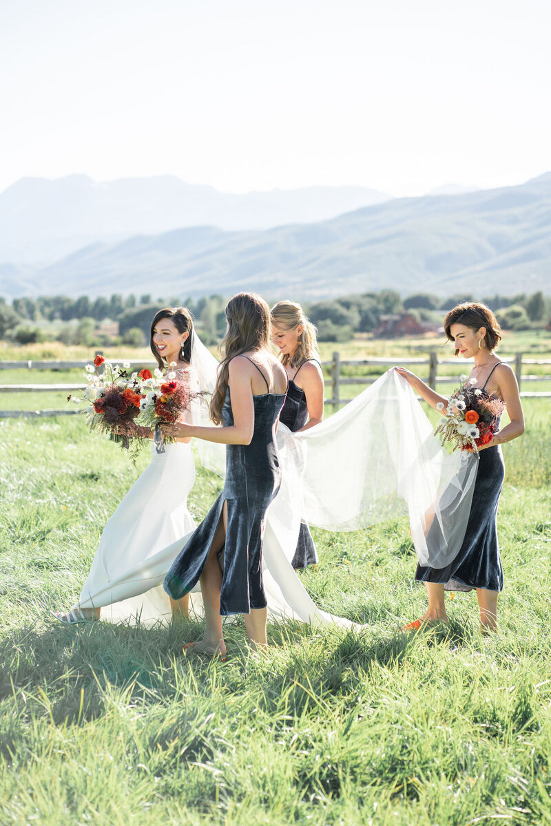 blue velvet bridesmaid dresses
