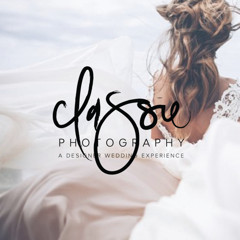 Hand lettered logo design for Classie Photography by Just Like White Creative