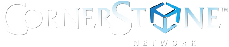 cornerstone-network-3d-logo-white