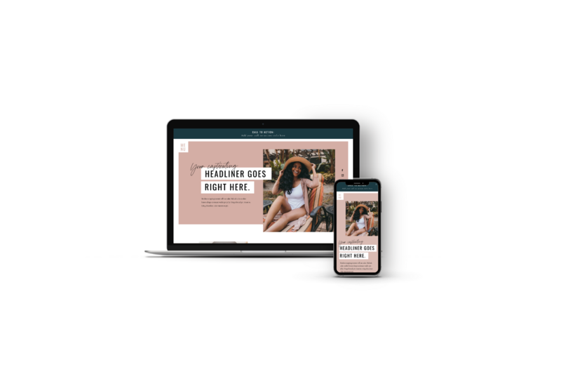 Website Templates for Personal Brands and Influencers - The Divine Diva by Becca Luna