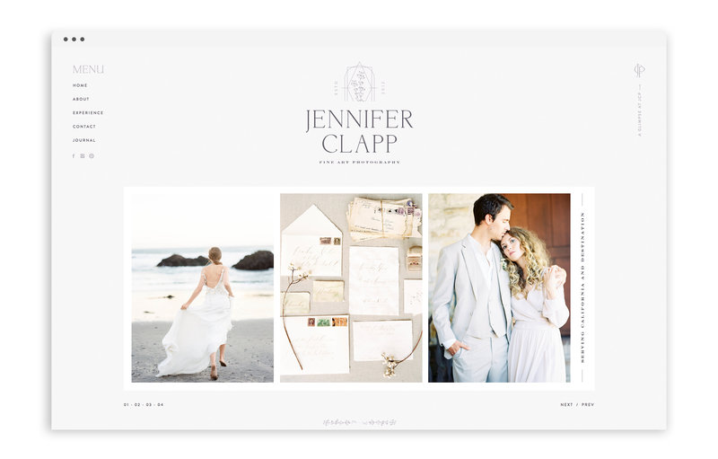 Jennifer Clapp Photography - Brand and Custom Showit Web Design by With Grace and Gold - Photo - 1