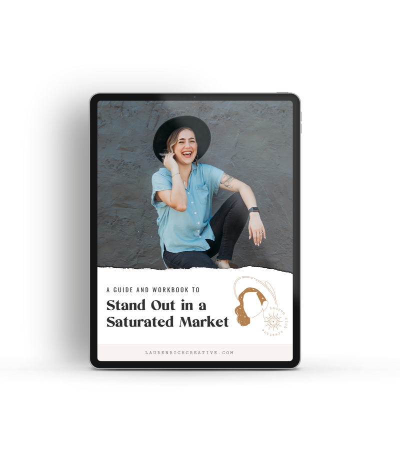 An iPad with a guide to stand out in a saturate market.