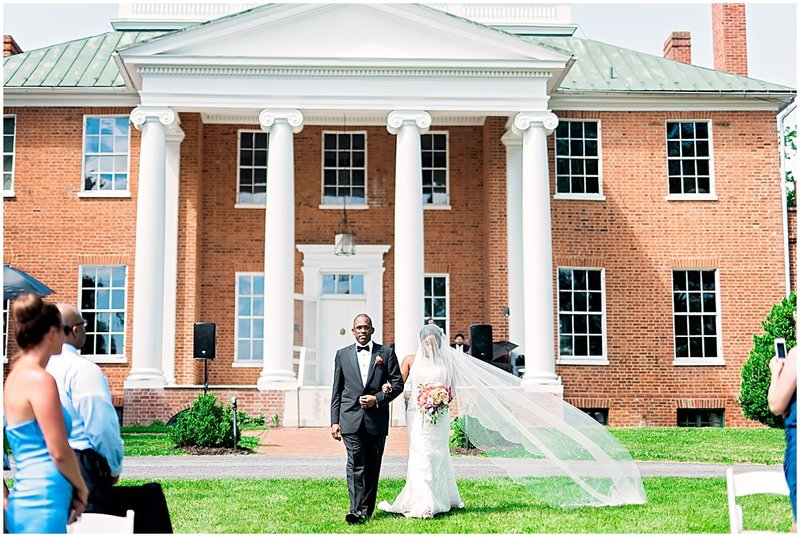 african american va wedding planner at long branch manor