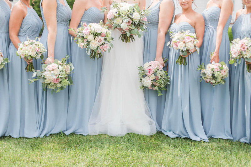 bridesmaids bouquets at eastern shore wedding at kirkland manor by costola photography