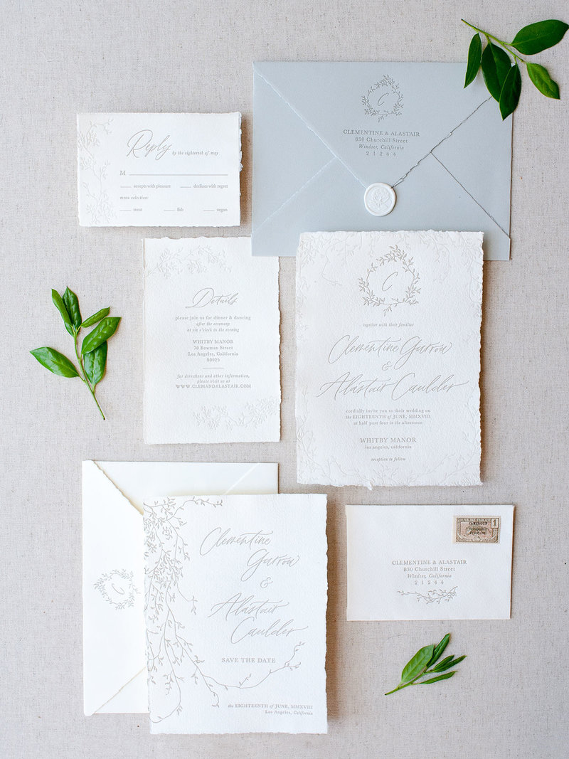 Semi-Custom Invitation Collection - Cascading Beauty