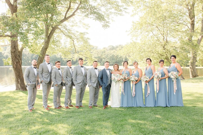 Bridal party at Indian Trail Club