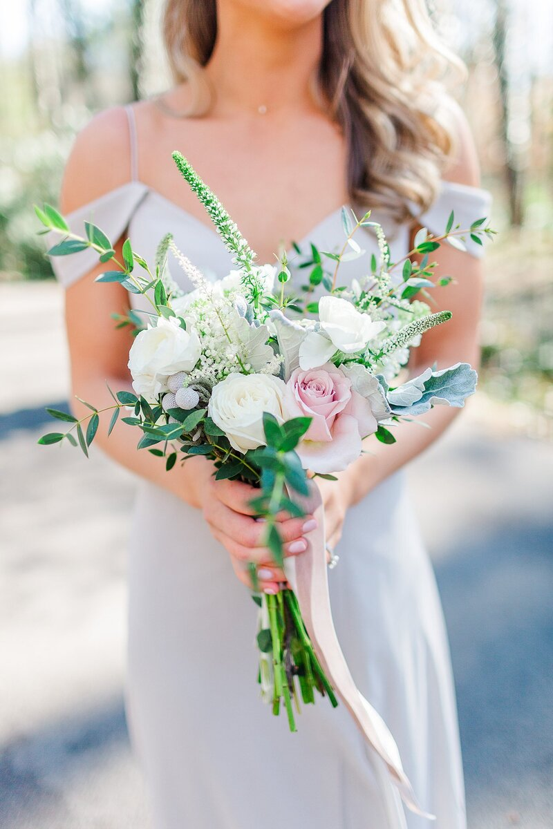 bridesmaid and bouquet by Knoxville Wedding Photographer, Amanda May Photos