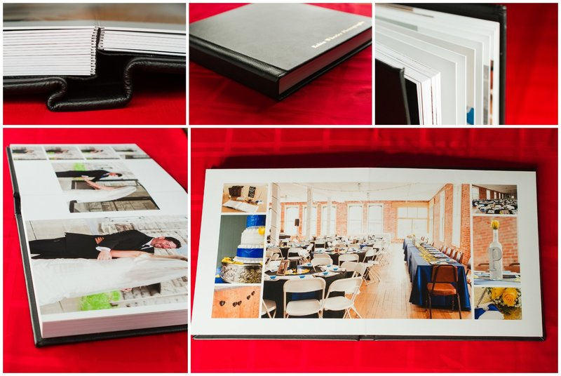 wedding album collage