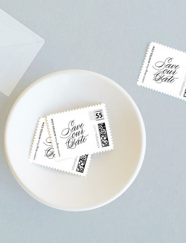 Save the Date Postage Stamps by Sandra Picco Design are available at Minted.com