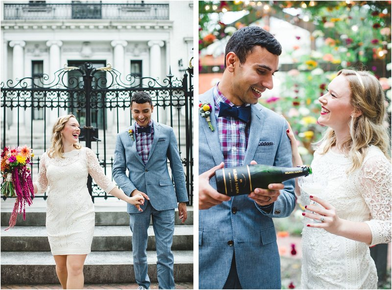 colorful savannah elopement