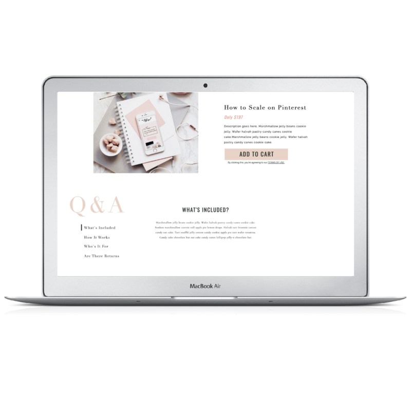 Showit Shopify Template