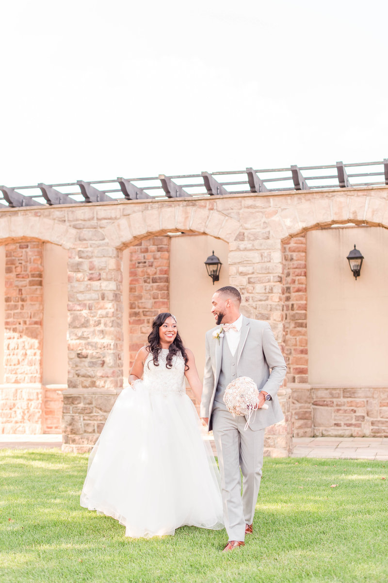 Blush and Gray Pinnacle Golf Club Wedding