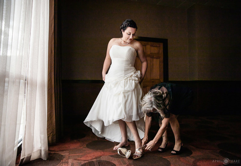 Bridal photography at The Golden Hotel in Colorado
