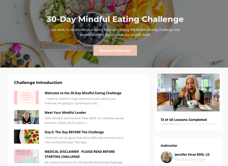 30 Day Mindful Eating Challenge with Nutrition Atlanta