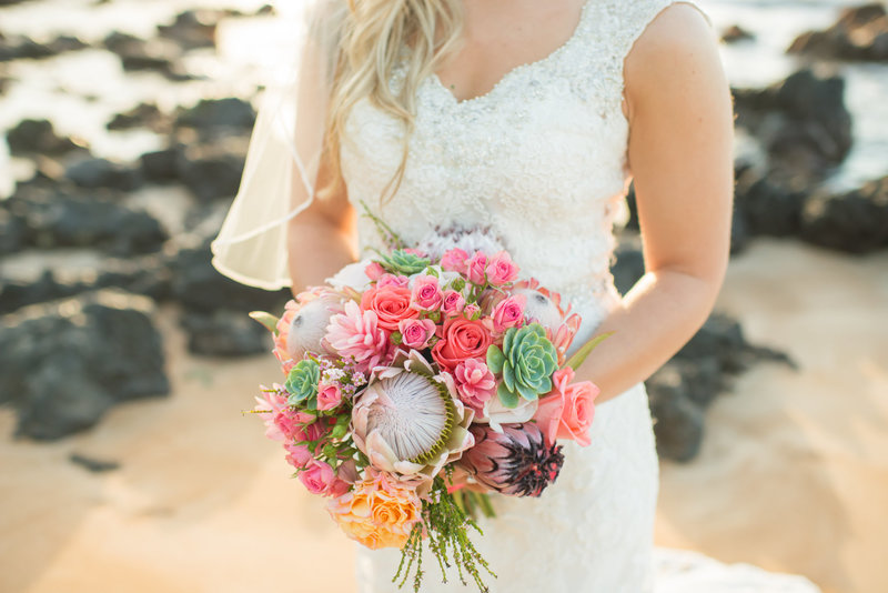 Custom Maui Wedding floral