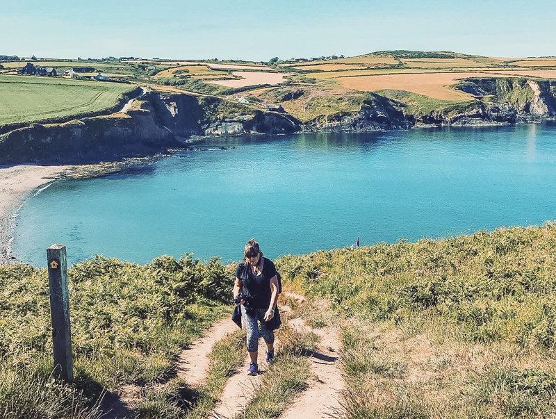 KT Chaloner and her pembrokeshire coastal trip