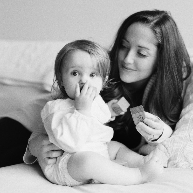 At home film family photography in Boston by Tiffany Farley