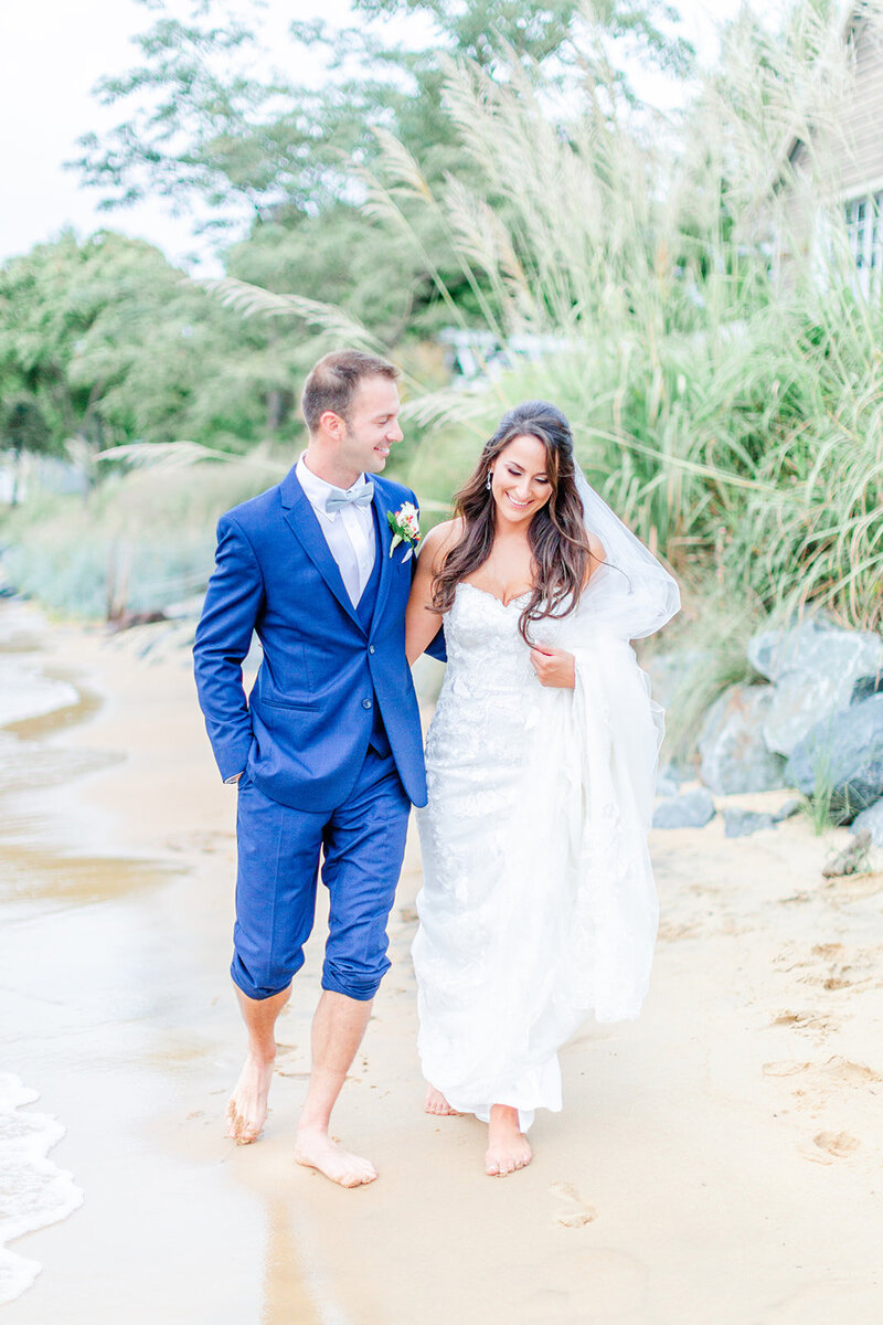 chesapeake bay beach club wedding by chesapeake charm photography