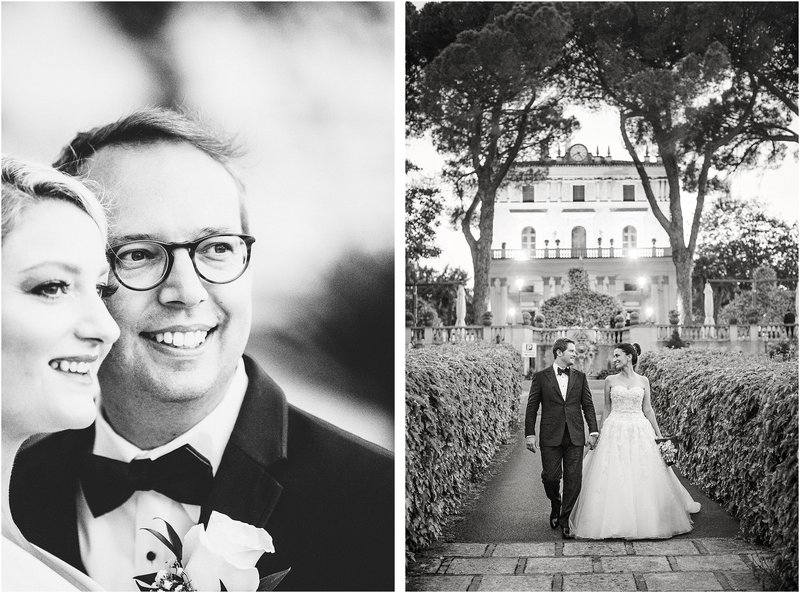 classic black and white wedding photography