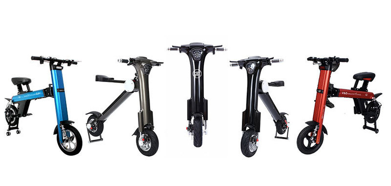 5 Electric Bikes line up;V&D Electric Bikes