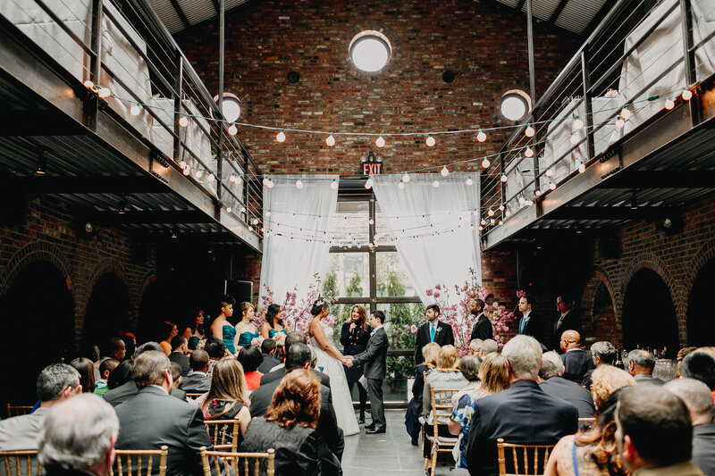 industrial space wedding ceremony