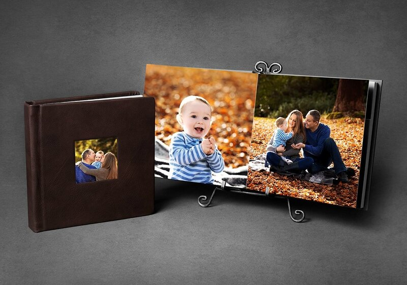 Display your Vancouver newborn photos in beautiful albums by Amber Theresa Photography.
