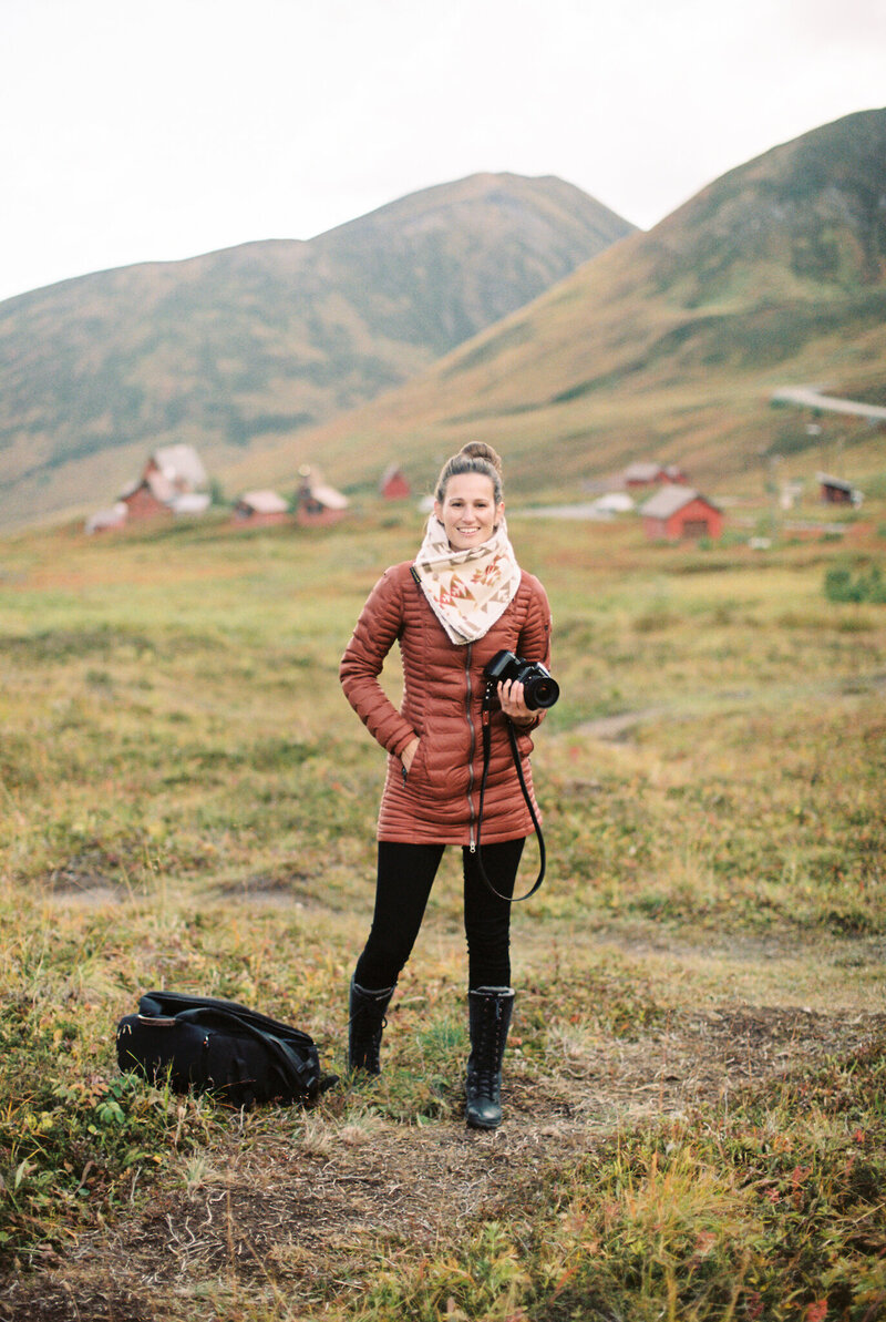 Alaska wedding photographer in Hatcher Pass