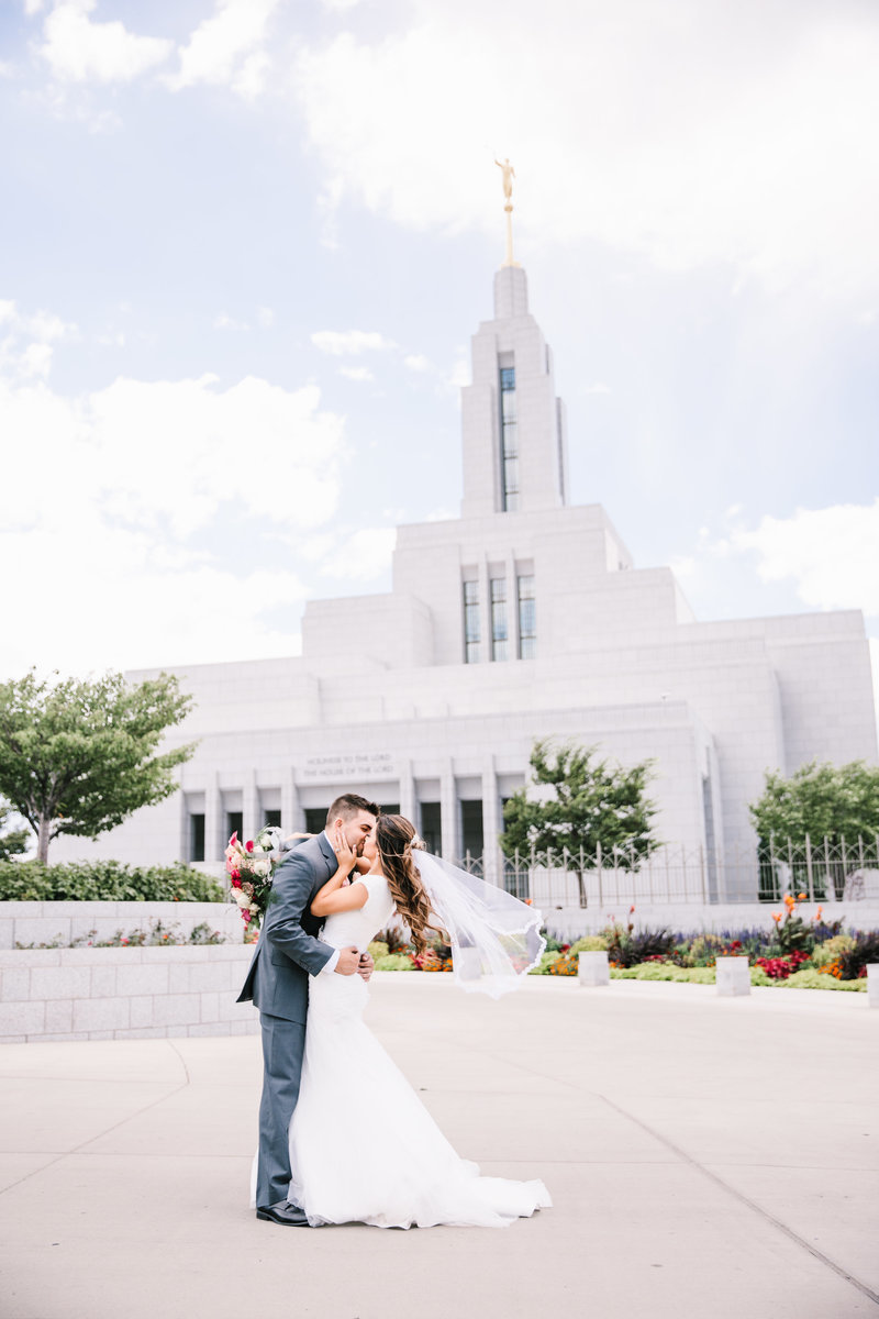 Draper Utah Temple Wedding
