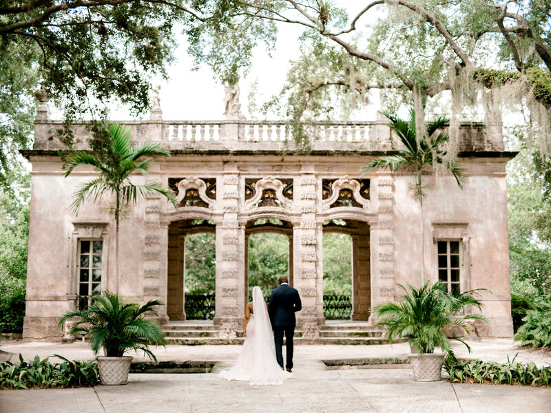 Vizcaya Museum and Garden Miami Elopement