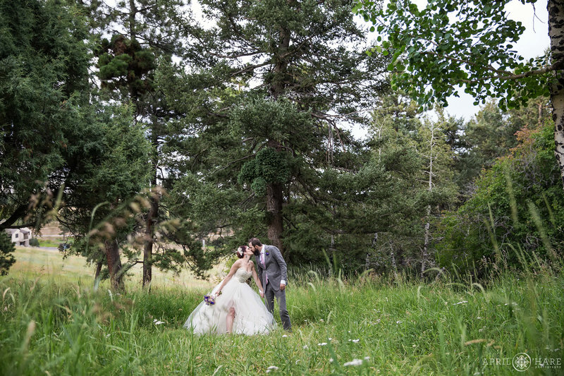 Wedding in the woods at The Pines at Genesee
