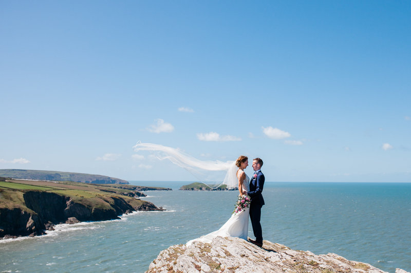 mwnt wedding on mwnt mountain in ceredigion
