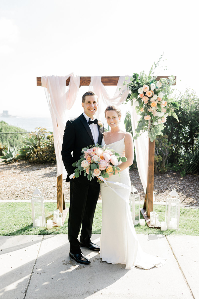 bride and groom portraits at Martin Johnson House in San Diego