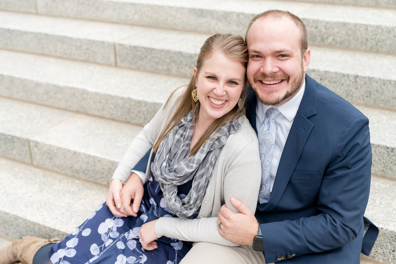 Jessie and Dallin photography headshot at utah state capitol