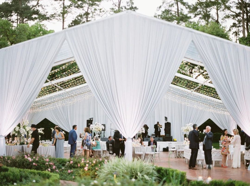 Baton Rouge outdoor wedding reception