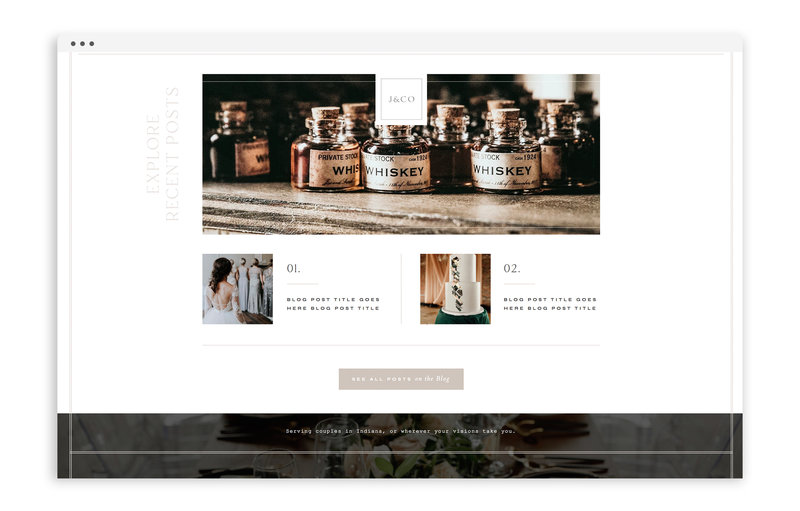 Journay and Co - Formerly Blush Events - Custom Brand and Showit Web Design by With Grace and Gold - Showit Theme, Showit Themes, Showit Template, Showit Templates, Showit Design, Showit Designer - 3