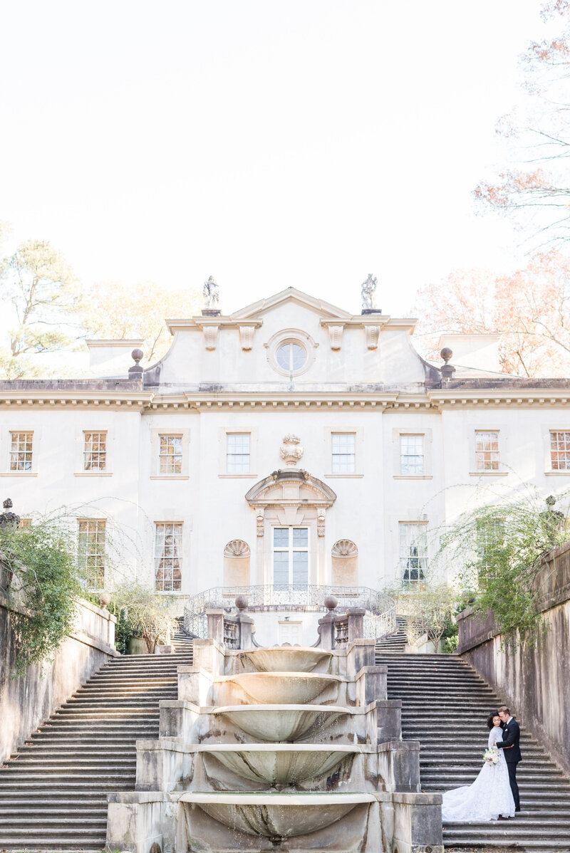 Luxury Wedding Photos of The Swan House Historic in Atlanta, Georgia