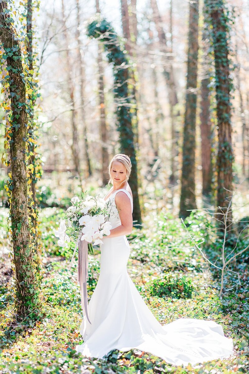 bridal portrait by Knoxville Wedding Photographer, Amanda May Photos