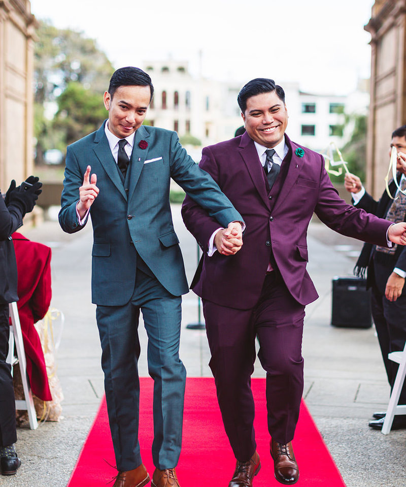 bay area wedding photos of LGBTQ couple