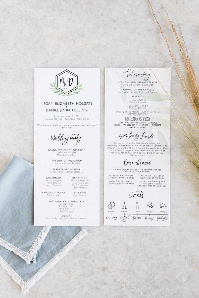 pirouettepaper.com | Wedding Stationery, Signage and Invitations | Pirouette Paper Company | Menus + Programs 53