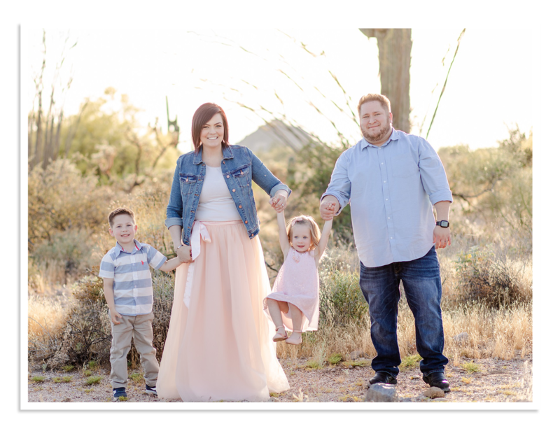 TheCoombe Family Portrait in the Desert