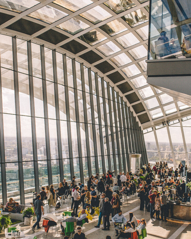 Business event at The Sky Garden in London