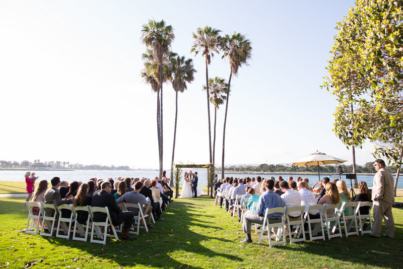 Ceremony Site overlooking the bayfront at The Dana Mission bay
