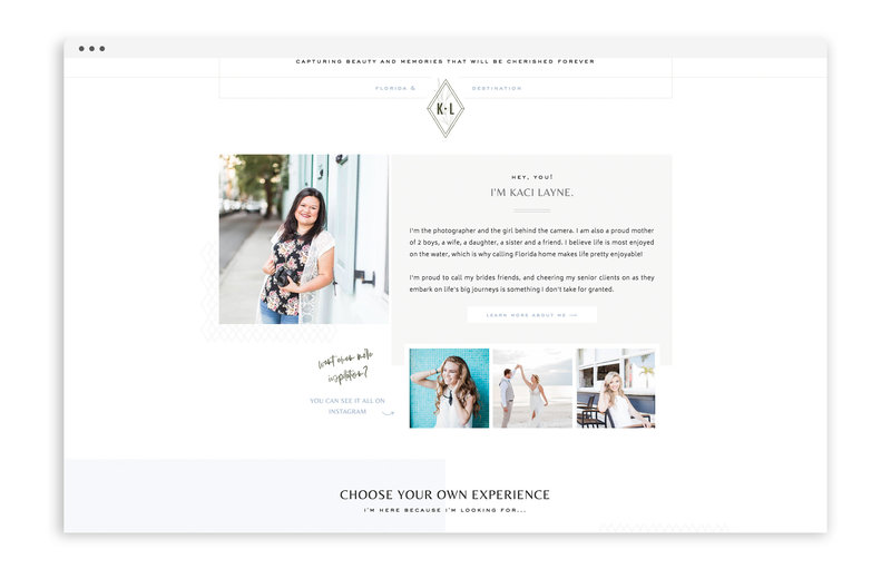 Kaci Layne Photography - Brand, Stationery, and Showit Web Design for Florida Photographer - With Grace and Gold - 22