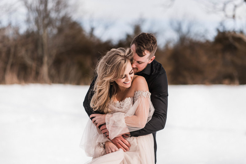 Sunny winter elopement photos in BC