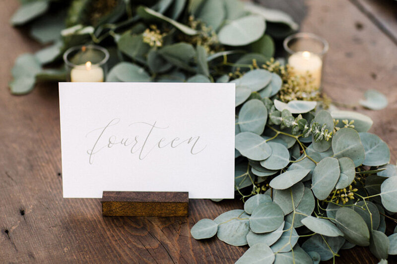 pirouettepaper.com | Wedding Stationery, Signage and Invitations | Pirouette Paper Company | Table Numbers 87